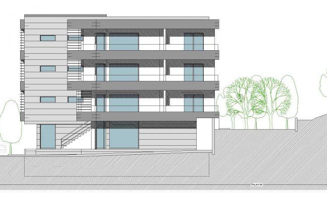 Habitação Multifamiliar_VPAncora_Alçado Lateral Direito