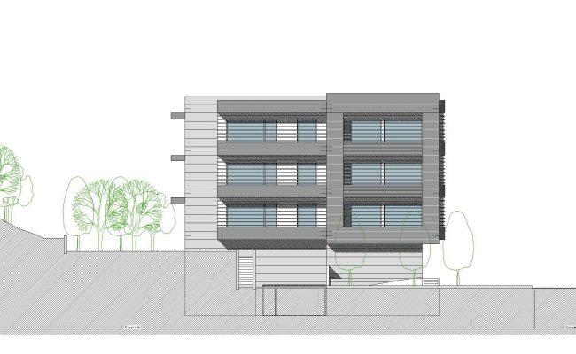 Habitação Multifamiliar_VPAncora_Alçado Lateral Esquerdo